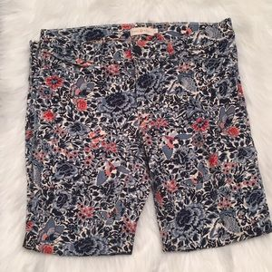 Tory Burch skinny cropped butterfly print jeans